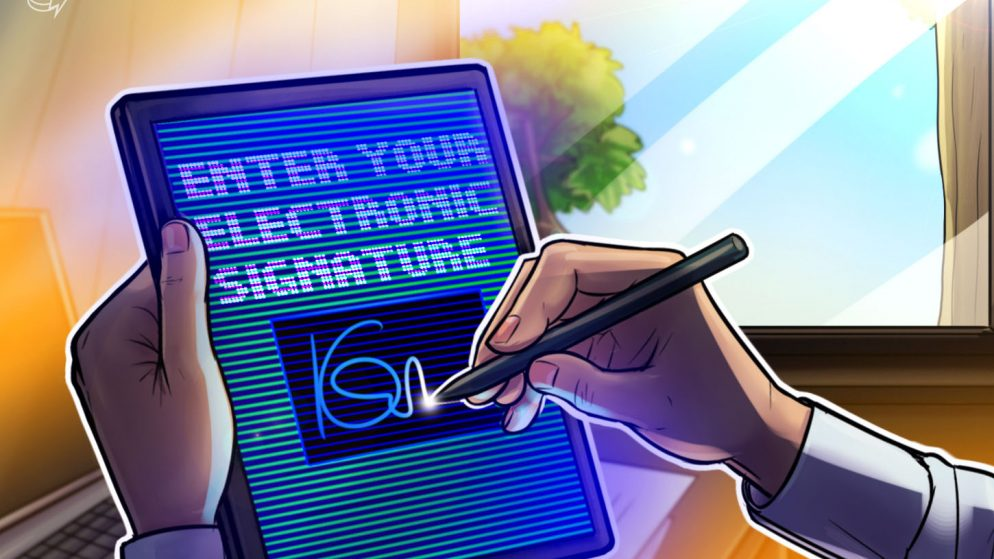 New invoice would legally acknowledge digital signatures on a blockchain